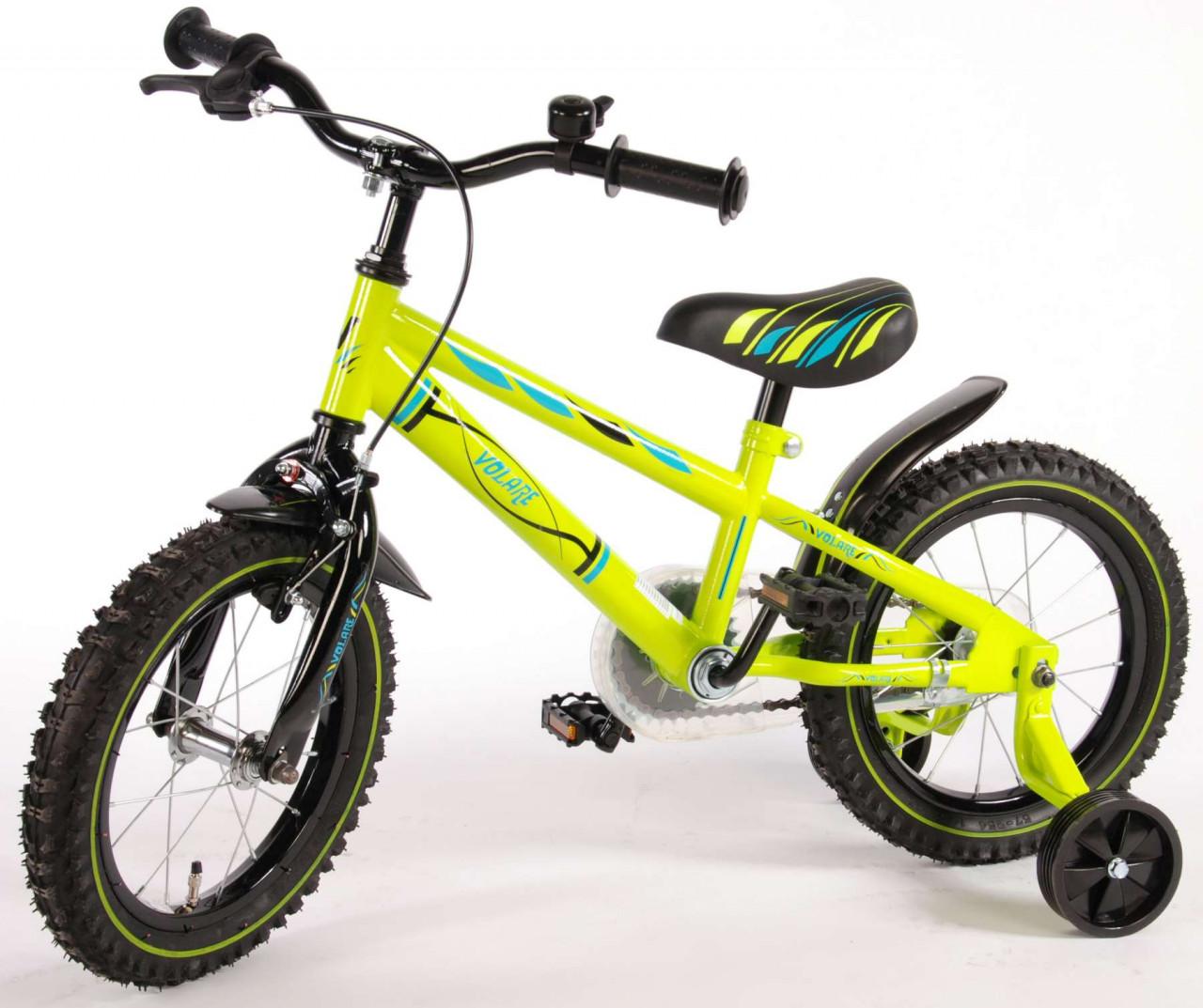 Volare Electric Green Kinderfahrrad 14 Zoll 95% zusammengebaut