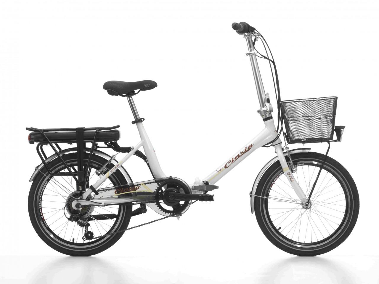 20 Zoll E-bike Klappfahrrad Cinzia Sfera 6 Gänge Aluminium mit Korb