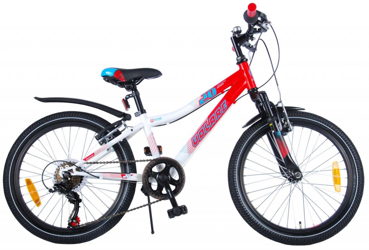 Volare Thombike Kinderfahrrad 20 Zoll Shimano 6 speed Weiß Rot 95%