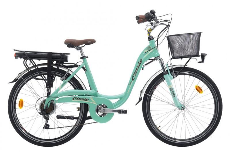 28 Zoll Trekkingrad E-bike Cinzia Sfera Lady 7 Gänge Federgabel Alu