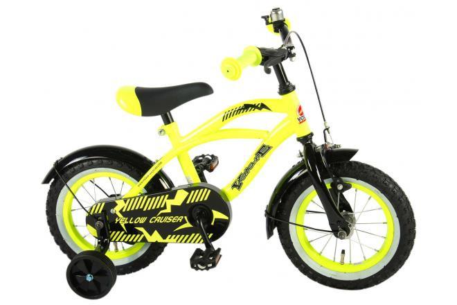 Volare Yellow Cruiser Kinderfahrrad 12 Zoll