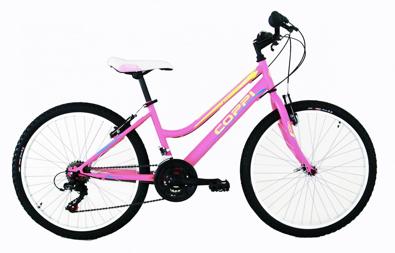 24 Zoll Mädchen Mountainbike Coppi Jaunty 18 Gänge