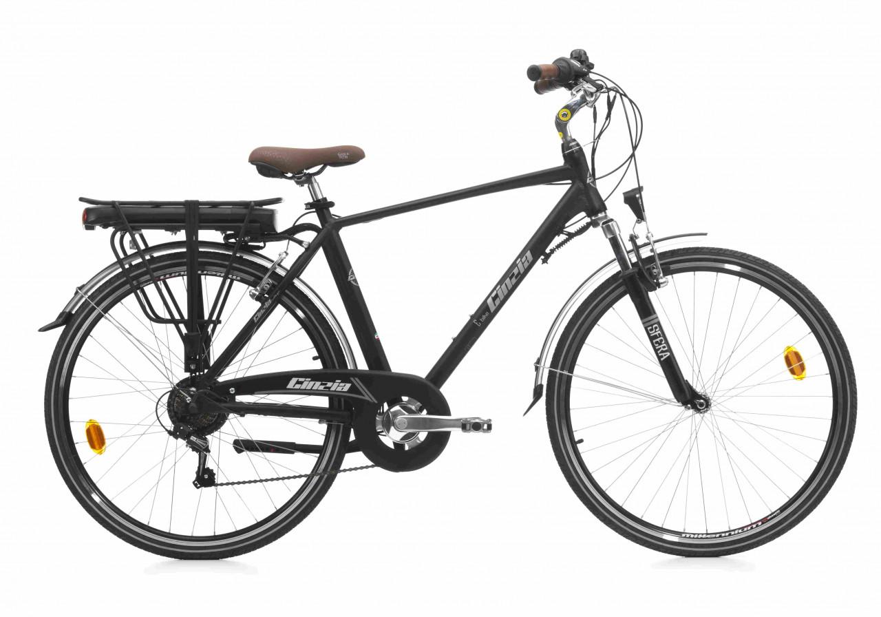 28 Zoll Trekkingrad E-bike Cinzia Sfera Herren 7 Gänge Federgabel Aluminium