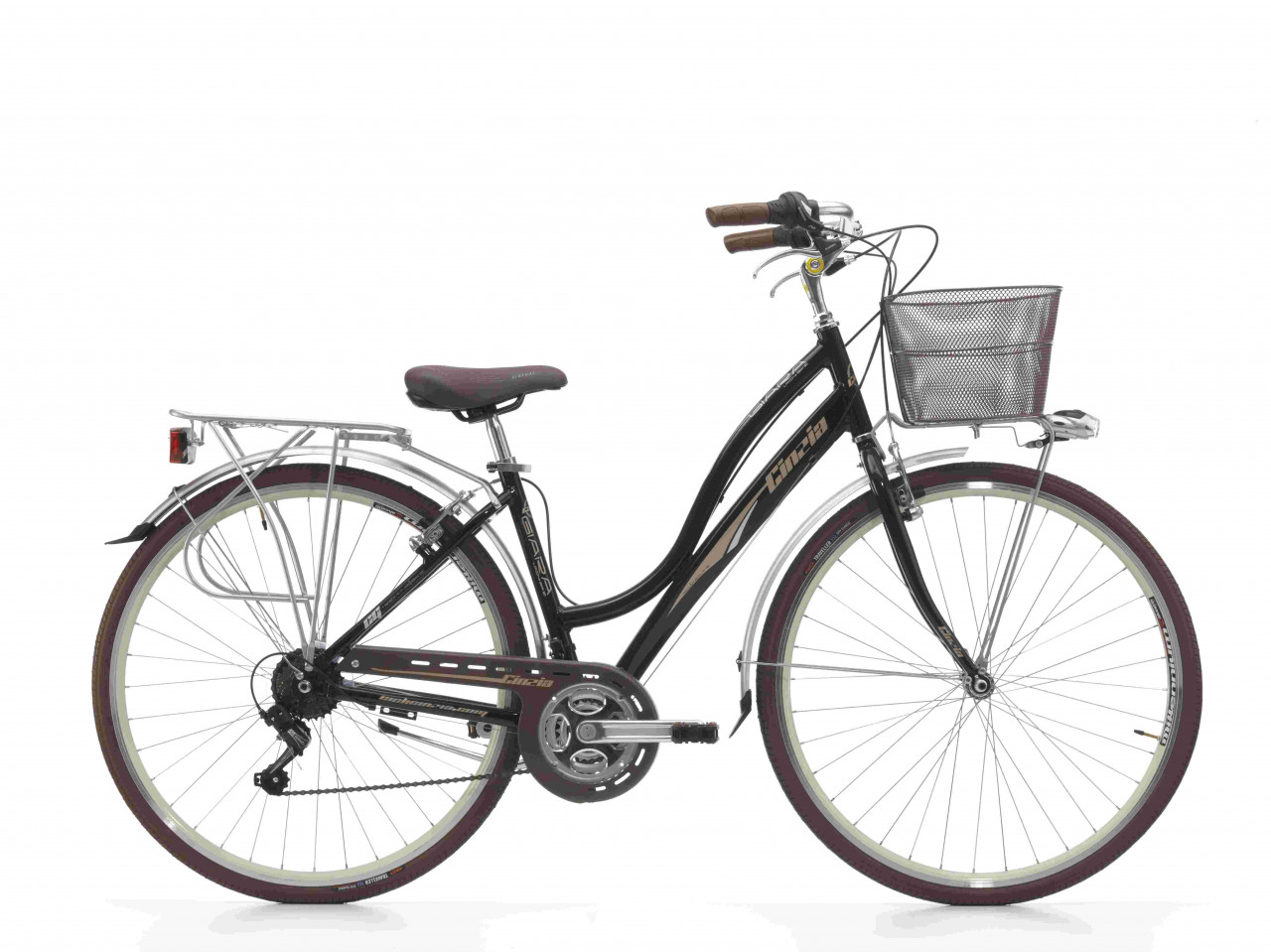 28 Zoll City Fahrrad Damen Cinzia Giara 21 Gänge mit Korb