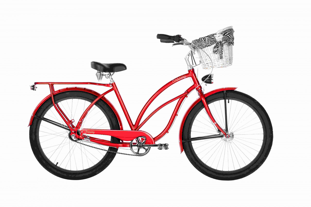 26 Zoll Cruiser Embassy Deluxe Red Lipstick 3 Gänge