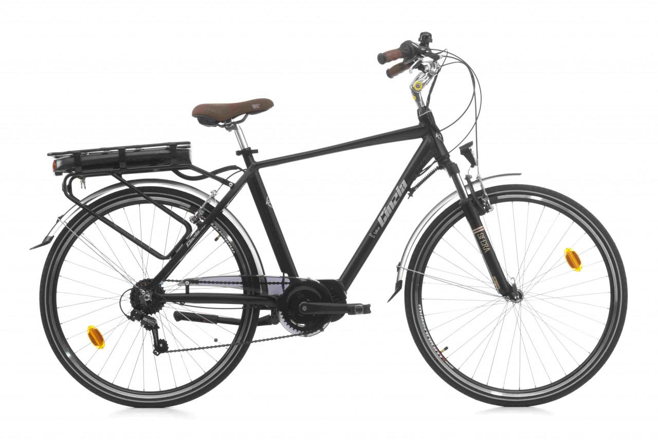 28 Zoll Trekkingrad E-bike Cinzia Sfera Mittelmotor 7 Gänge Federgabel