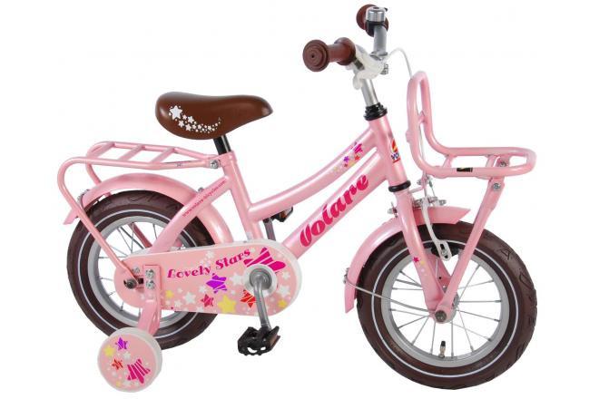 Volare Lovely Stars Mädchenfahrrad 12 Zoll Pink 95% Zusammengebaut